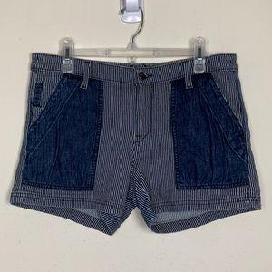 Pilcro & the Letterpress- Blue & White Shorts